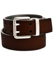 Tommy Hilfiger Men's Casual Two Hole Double Prong Reversible Belt Brown/Black image 3