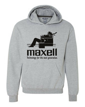Maxell speakers Hoodie Logo retro 1980's Blown Away Man audio graphic sweatshirt image 1