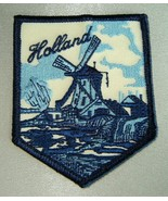 HOLLAND (The Netherlands) Blue/Cream Embroidered Windmill Travel Souveni... - $9.70