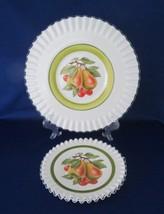 Fenton, Milk Glass, Hand Painted Plates, Silver Crest, Sandwich Plate, P... - $40.00