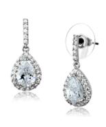 Women's Brass Synthetic AAA Grade CZ Clear 10,6 mm Dangle & Drop Earrings - $21.70