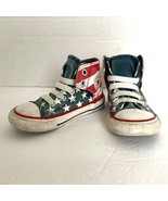 Converse Flag Shoes High Tops Toddler 6 Stars Stripes Red White Blue Pat... - $19.79