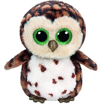"Pyoopeo Original Ty Boos 10"" 25cm Sammy the Brown Owl Plush Medium Big e... - $22.80"
