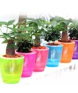 Flower Pot Automatic Water Absorbing Plant Plastic Pots Lazy Watering Ab... - $6.79+