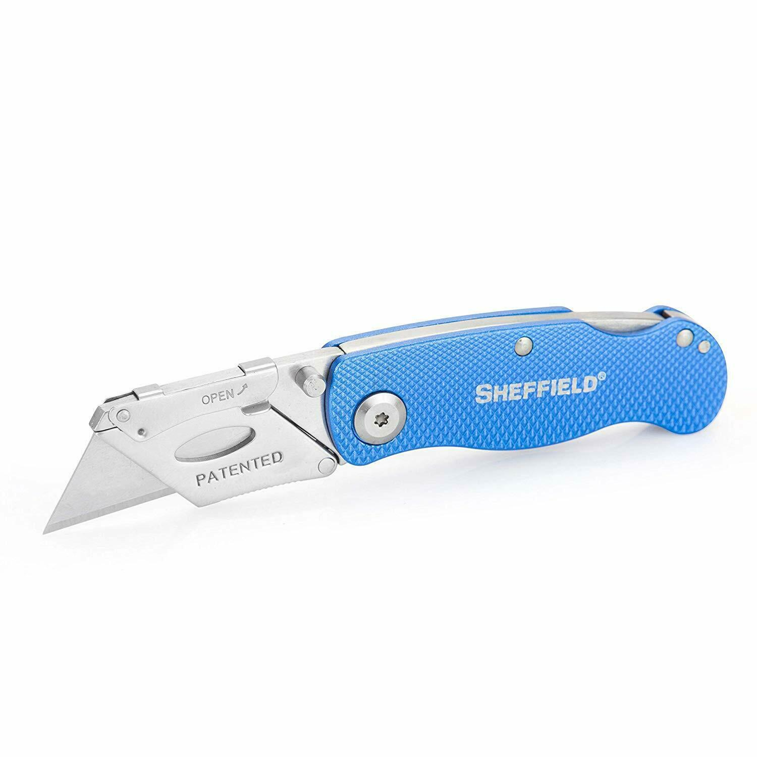 NEW Sheffield 12113 One-Hand Opening Lock-Back Utility Knife 2-3 DAYS DELIVERY - $32.52
