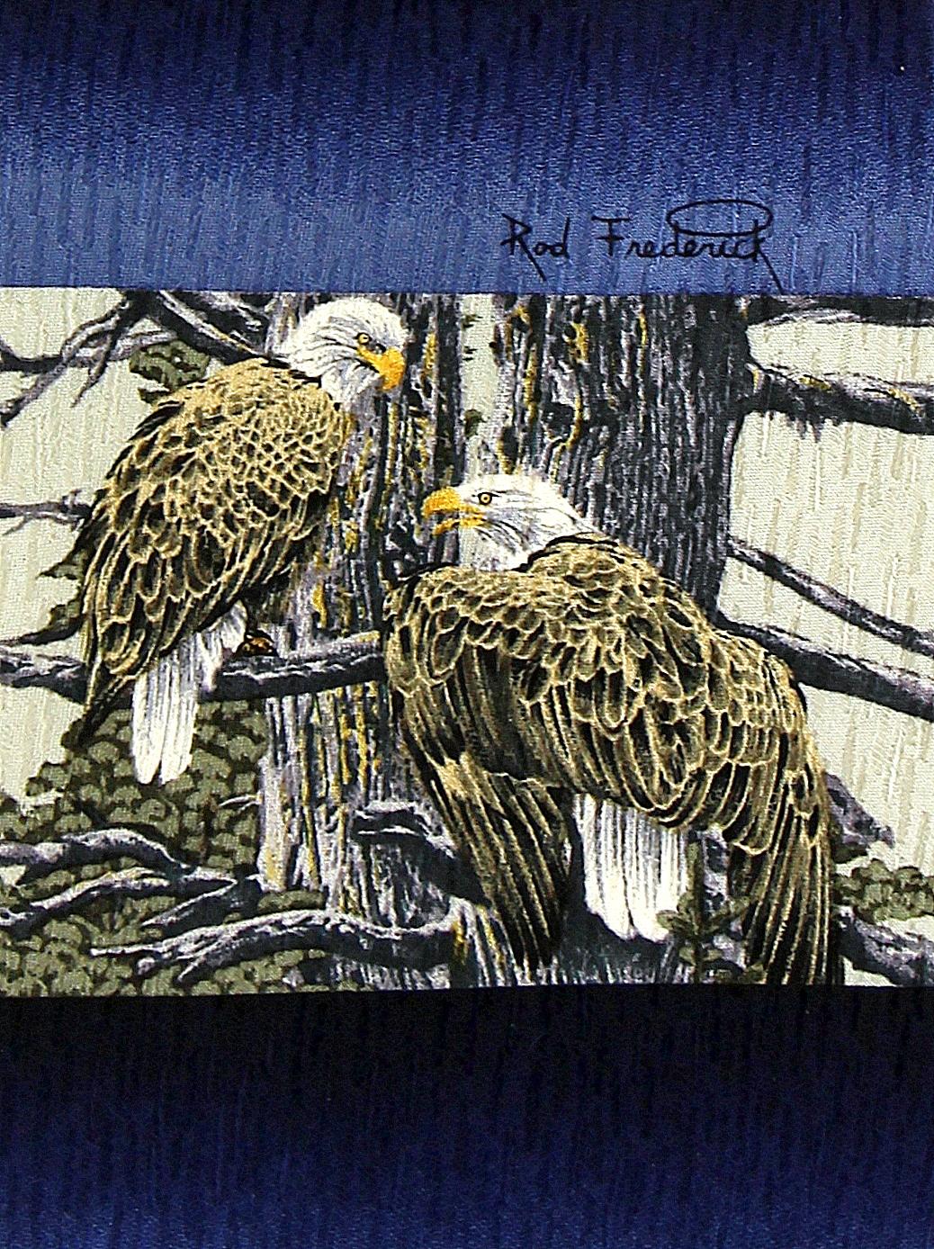 Wild Eagles Men/'s Neck Tie Bald Eagle Novelty Animal Bird Wildlife Black Necktie