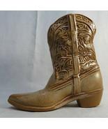 Vintage FRANKOMA Terracotta Art Pottery Brown Cowboy Boot Vase Figurine ... - $50.00