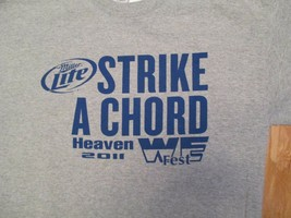 Wefest 2011 Miller Lite Strike a Chord Heaven 2011 Country Music T Shirt... - $10.99