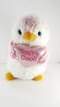 "Valentine Penguin Pink you're Cool Love Heart Plush Stuffed Animal White 9"" - $11.87"