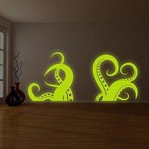 "( 94"" x 41"" ) Glowing Vinyl Wall Bath Decal Amazing Octopus Tentacle / Glow in D - $250.06"