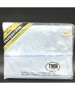 Vintage Tastemaker JP Stevens Light Blue Twin Size Flat Sheet Sealed Mus... - $29.95