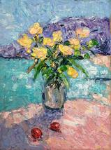 Flowers In The Vase II Oil Painting On Canvas Original Floral Wall Art D... - $69.00