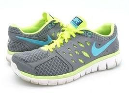 Nike Womens 8.5 Flex 2013 Run Gray Lace Up Mesh Running Sneaker Shoes EUR 40 - $29.99