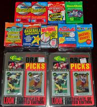Baseball & Football Cards Classic 1991 NFL Draft Picks Rookies Donruss Fleer - $9.74