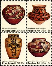 1977 13c Pueblo Art, Block of 4 Scott 1706-09 Mint F/VF NH - $1.24