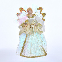 "Kurt Adler 12"" Led Fiber Optic Angel w/WINGS Christmas Tree Topper Decoration - $34.88"