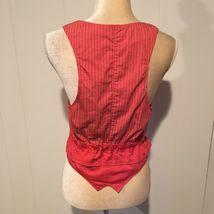 Zara Basic Orange Vest, Buttons & Ties, Size Small image 4