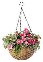 Resin Wicker Hanging Basket, 14-In. - $492,03 MXN