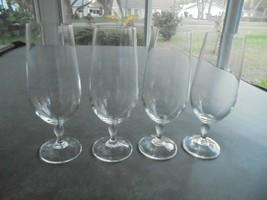 """Set of 4 Crystal Wine Flutes 7 1/2"""" Tall  Lenox? - $23.76"""