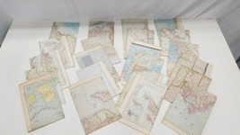 Vintage Lot (22) National Geographic Map World 1949 - 1955 image 2