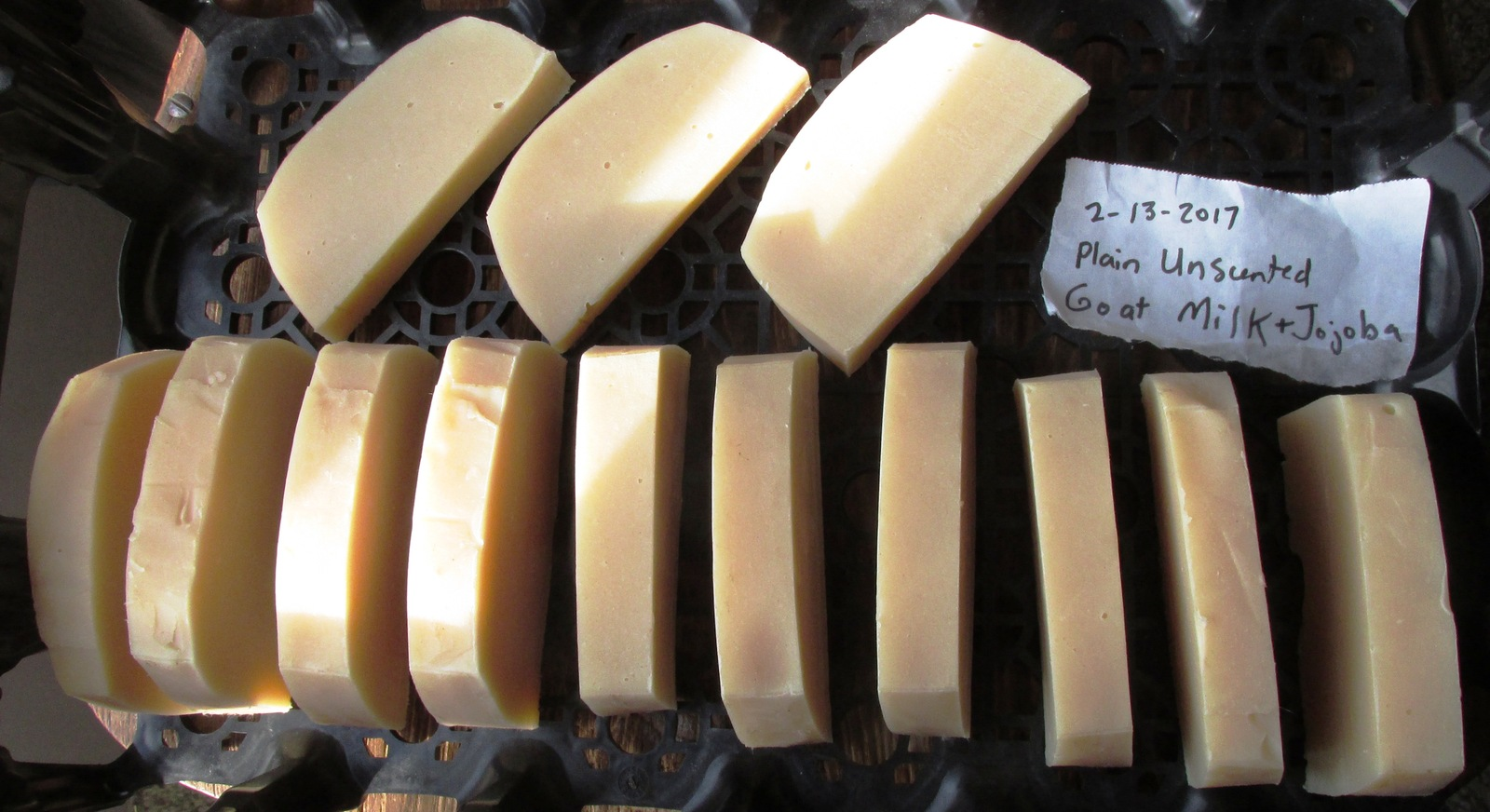 Plain Unscented Goat Milk Soap with CoconutOil OliveOil PalmOil JojobaOil