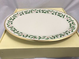 """Lenox Holiday Oval Platter 16"""", New in Box - $113.99"""