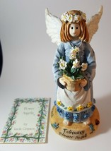 COLLECTIBLE LINDA GRAYSON FLOWER ANGEL FEBRUARY  1995 - $10.00
