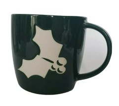 Holly Berries Green Starbucks Holiday Coffee Mug 2011 Etched cup - $9.00