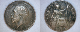 1920 Half Penny World Coin - Great Britain - UK - England - $5.99