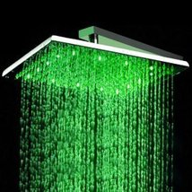 Factory drop-ship 16 inch Stainless Steel Square LED Rainfall Shower Head (Witho - $287.05
