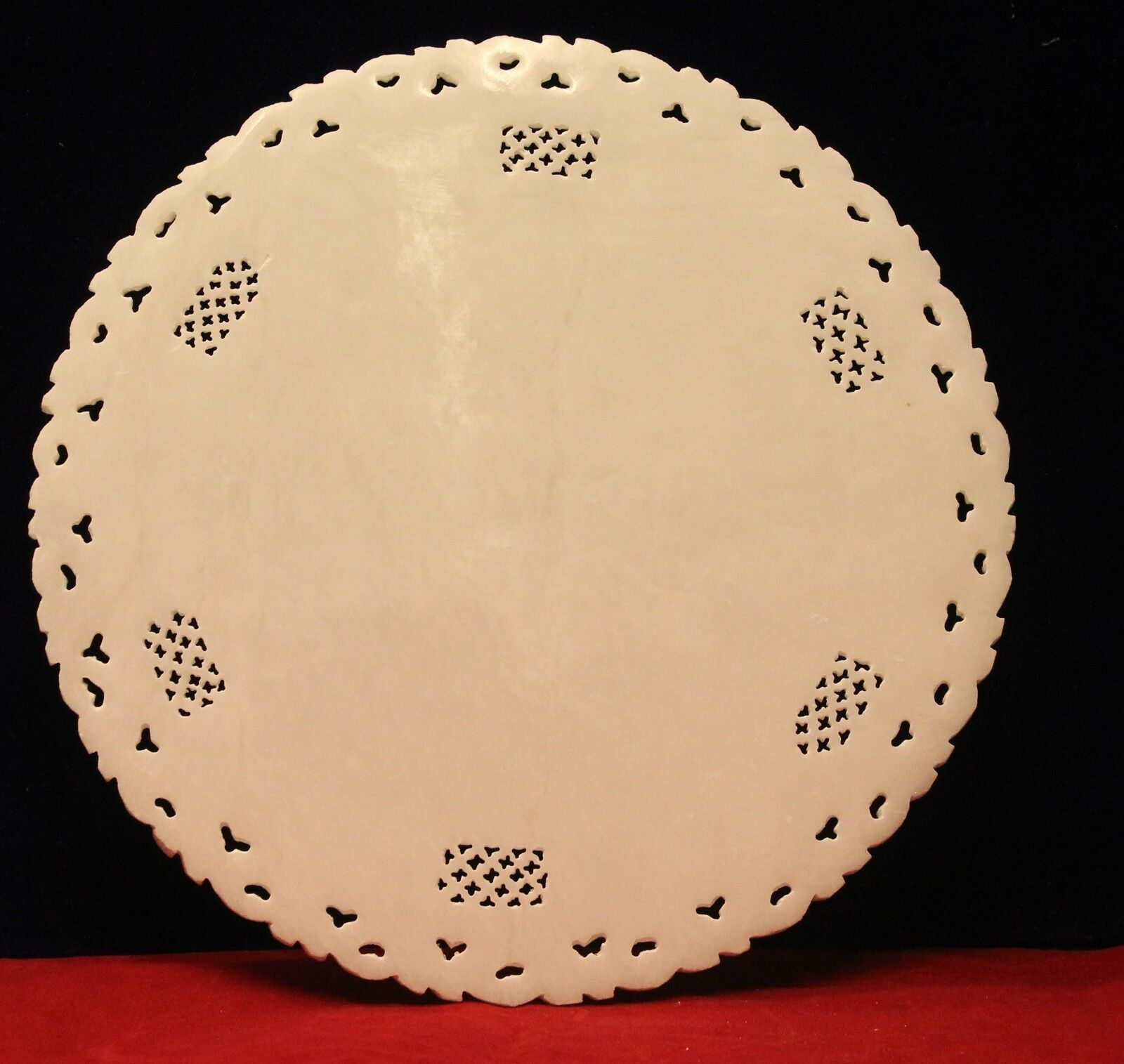 Plate Semi Precious Stone Inlay Marble Floral Handcrafted