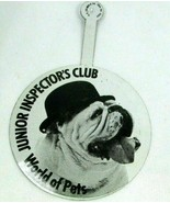 VTG Fold Over Button Junior Inspector's Club World Of Pets English Bulld... - $18.87