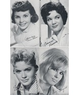 """Connie Francis & More 3 1/2"""" X 5 1/2"""" B/W Picture with Autobiography/ BI... - $1.75"""