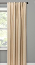 "2 Threshold Small Check Curtain Panel Basket Tan Blackout Curtain 50"" x ... - $26.99"