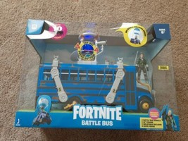 Fortnite Battle Bus Deluxe Vehicle Pack NEW 2020 Toy WITH Figure recruit Jones v - $71.20