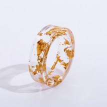 Handmade Resin Ring Jewelry with Gold/ Silver Color Foil Paper Natural R... - $15.84