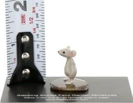 Stepping Stones Fairy Garden Miniature Mouse Standing on Sliced Quartz Base 2740 image 2