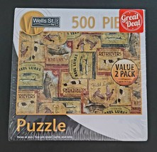 2-PK 500-PCS Wells St By Lang Billiard Balls & Outdoorsman Puzzles SAME-... - $16.67