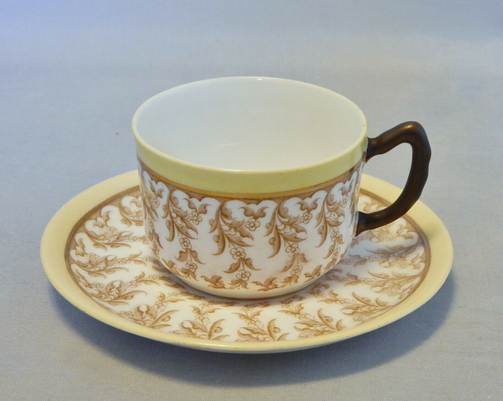 Antique 1888 Royal Worcester Demitasse Cup and Saucer Set