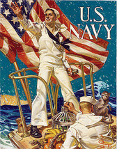 Hailing You for the U.S. WWI Navy Recruitment Military Poster 1918 Wall Art - $13.00+