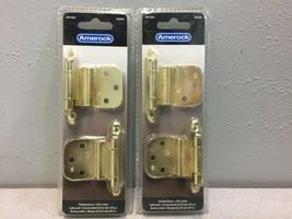 Amerock 2-1/8 in W x 2-3/4 in L Polished Brass Steel Self-Closing Hinge 2 - 2pk - $9.88