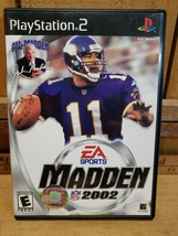 Play Station 2, EA Sports: NFL Madden 2002 Video Original Game & Case W/... - $5.15