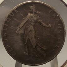 KM# 854 1917 France Silver 50 Centimes F #0925 - $2.49
