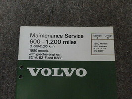 1980 Volvo Modelle Kraftstoff Motoren Wartung Service Shop Manuell Fabrik OEM image 2