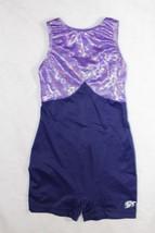 GK Elite Sportswear Girls Sz L Dance Gymnastics Purple Sparkle Unitard L... - $19.79