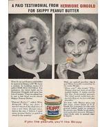 Hermione Gingold Actress Testimonial SKIPPY Peanut Butter AD 1950s Adver... - $14.99