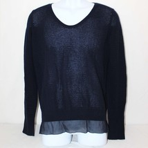 VINCE Womens Black Wool Cashmere Pullover Sweater Size M Long Sleeve Lac... - $275.00