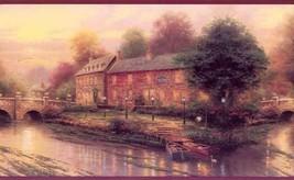 Thomas Kinkade Village Bridges Imperial Wallpaper Border AKA 30882210B - $16.99