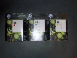 3x Genuine HP Officejet 88XL 1x Cyan, 1x Magenta, 1x Yellow ***MAKE AN O... - $20.57