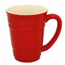 Red Party Cup 16oz Ceramic Mug Red - $22.98